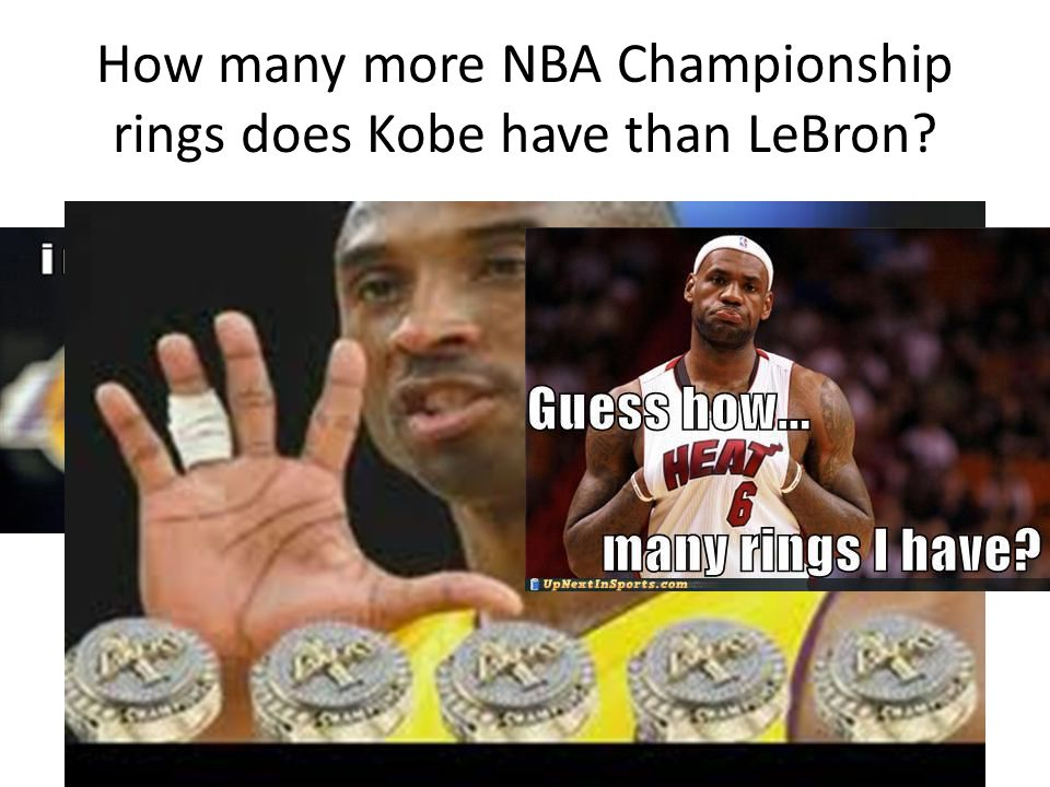 How many more NBA Championship rings does Kobe have than LeBron?