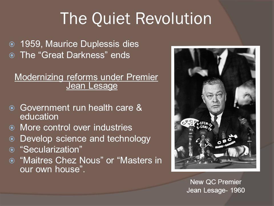 The quiet revolution?