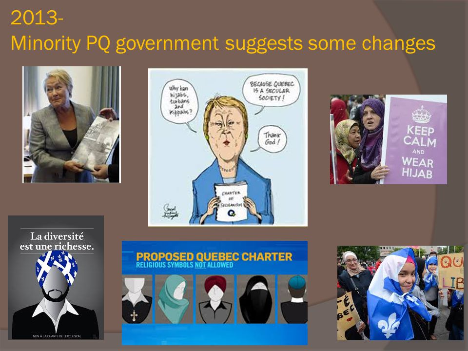 2013- Minority PQ government suggests some changes