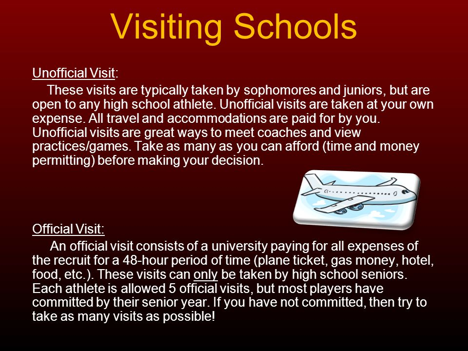 Meeting with a Coach As a family, sit down and discuss questions to ask the coaching staff of the university that you are about to visit.