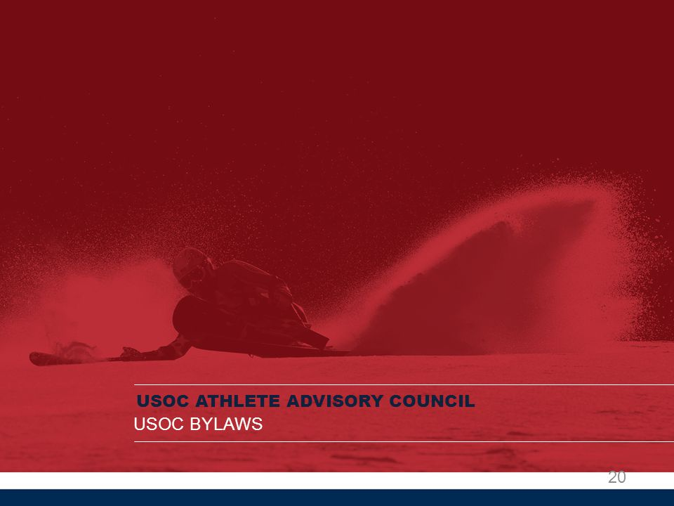 USOC ATHLETE ADVISORY COUNCIL USOC BYLAWS 20