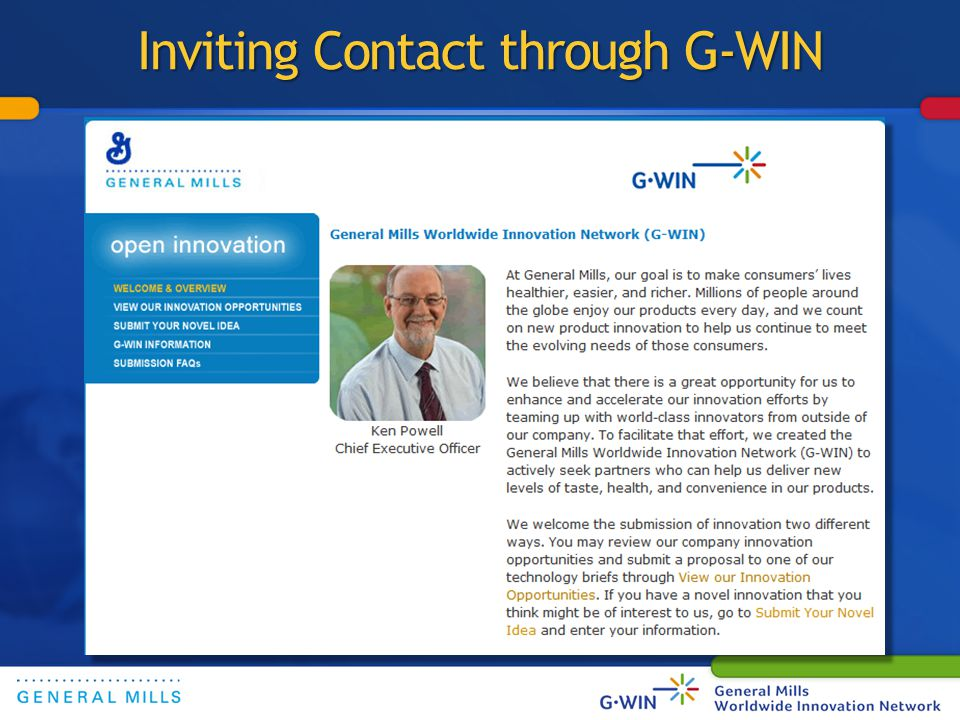 Inviting Contact through G-WIN