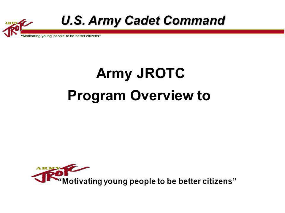 2 Agenda Organization Charts Regional JCLCs Army Drill Nationals JROTC Designated SROTC Scholarships ASU Fielding Plan JROTC Support for PASS CyberPatriot