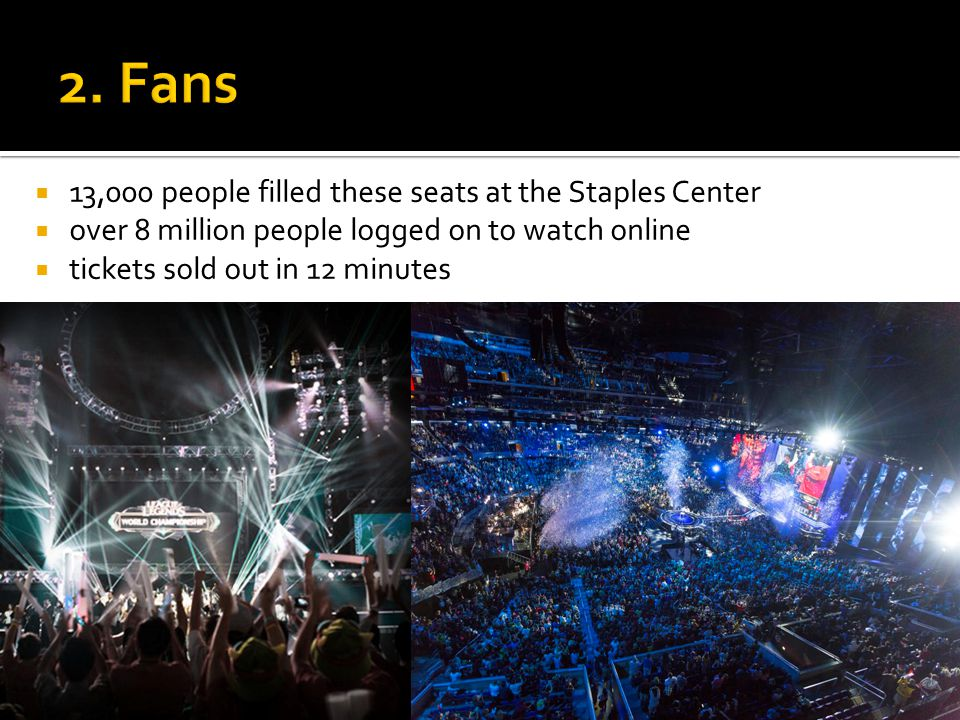 13,000 people filled these seats at the Staples Center over 8 million people logged on to watch online tickets sold out in 12 minutes