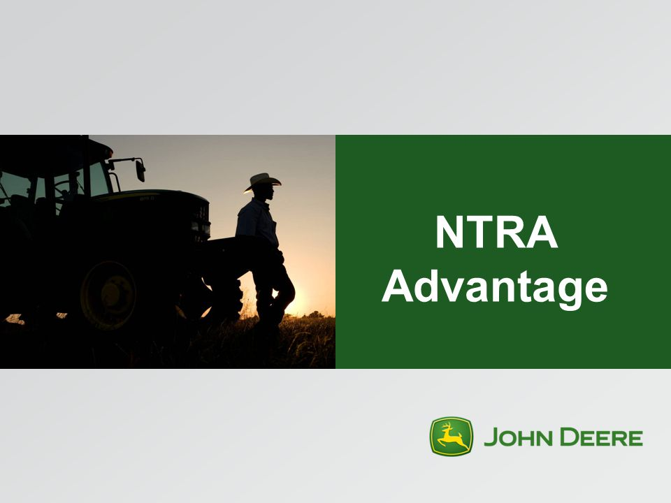 John Deere Advantages and Unique Value Full product line across the enterprise John Deere dealer network Proven brand support NTRA Advantage sales force & influence Members are loyal to their corporate partners John Deere recognized as equipment leader in the equine industry Exclusive partnership – key associations as partners & support