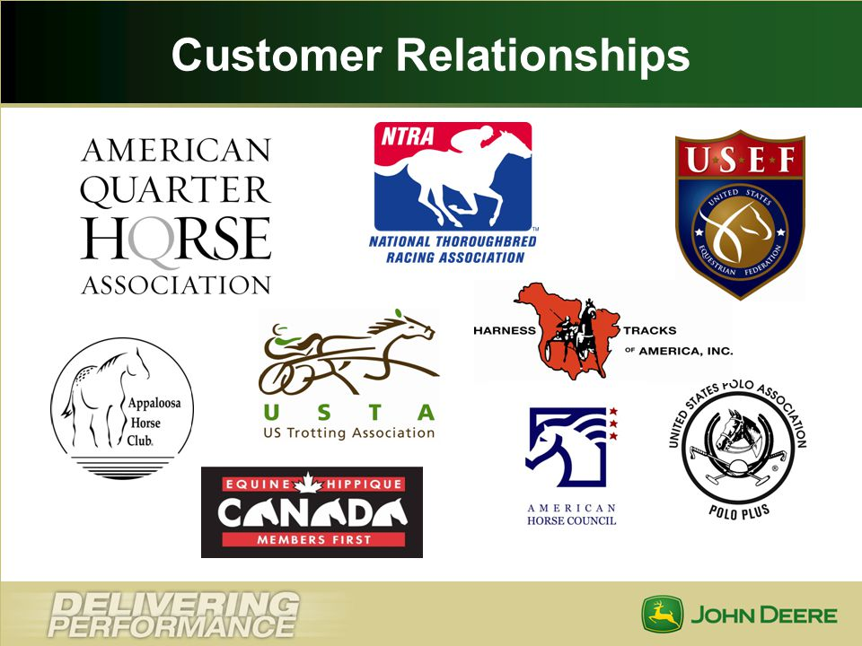 Loyalty to the Industry Equine Members develop loyalty with industry partners Revenue sharing with tracks, affiliates & horsemens associations