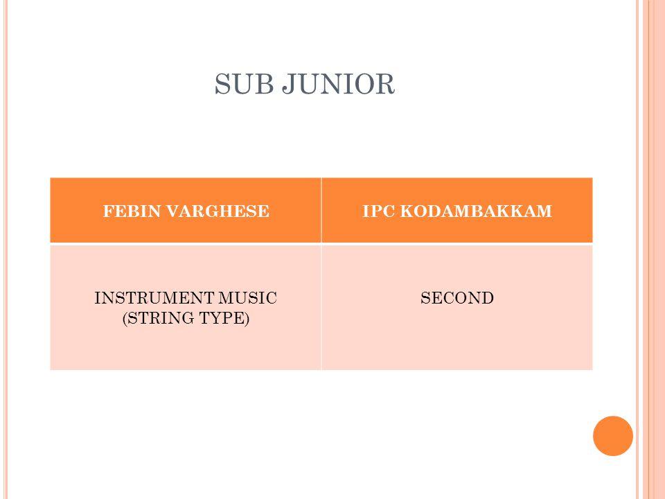 SUB JUNIOR FEBIN VARGHESEIPC KODAMBAKKAM INSTRUMENT MUSIC (STRING TYPE) SECOND