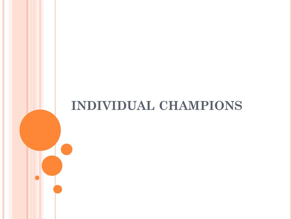 INDIVIDUAL CHAMPIONS