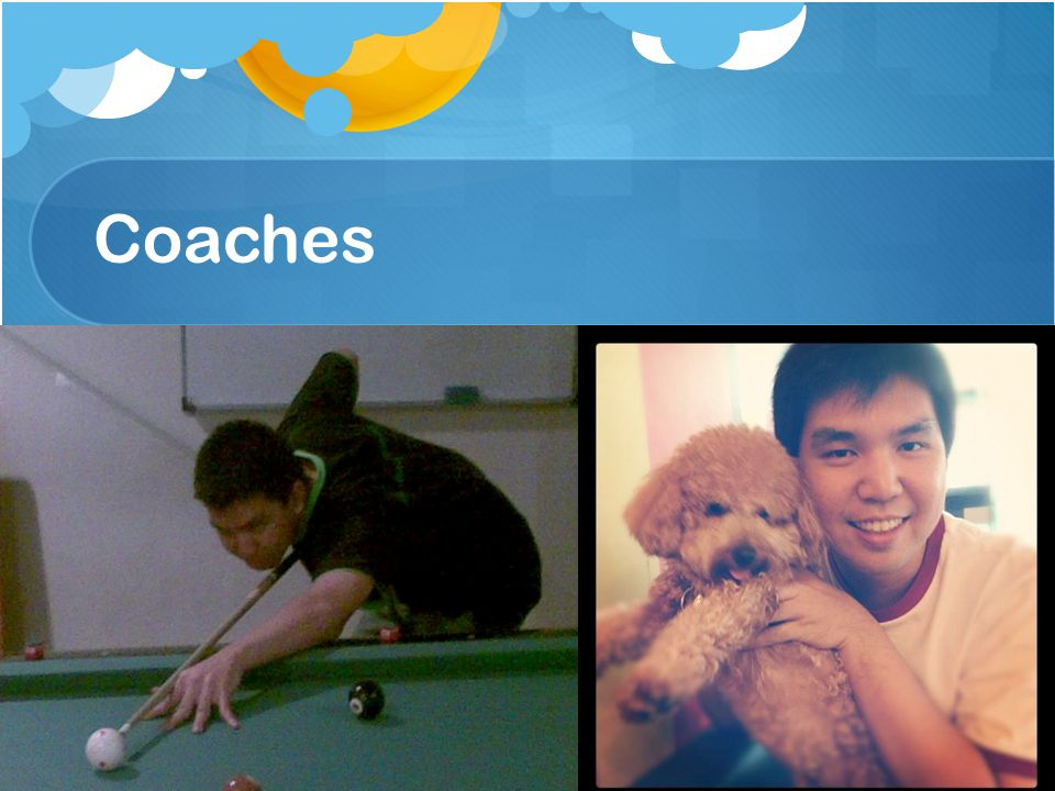 Contacts Joey Tian- 90223192 Jeremy Koh-91172273 Ying Yun-91176747 Ee Ting-94561520 Desmond Tan-93820986 Eric Hwang-94525068 Andrea-90059431 Zeqi (IVP CAPTAIN)-98807579 VISIT US AT: WWW.FACEBOOK.COM/NUS.CUESPORTS