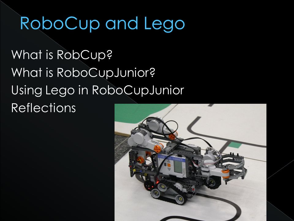 What is RobCup What is RoboCupJunior Using Lego in RoboCupJunior Reflections