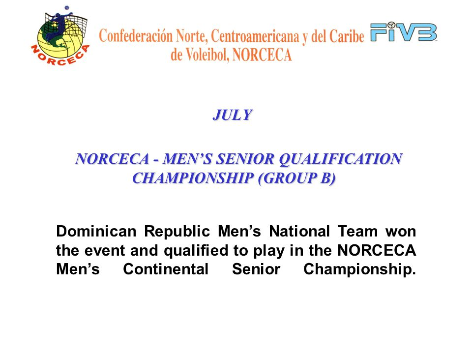 JULY Results: USA1 st Puerto Rico2 nd 2002 WOMENS JUNIOR WORLD CHAMPIONSHIP QUALIFICATION TOURNAMENT (GROUP L)