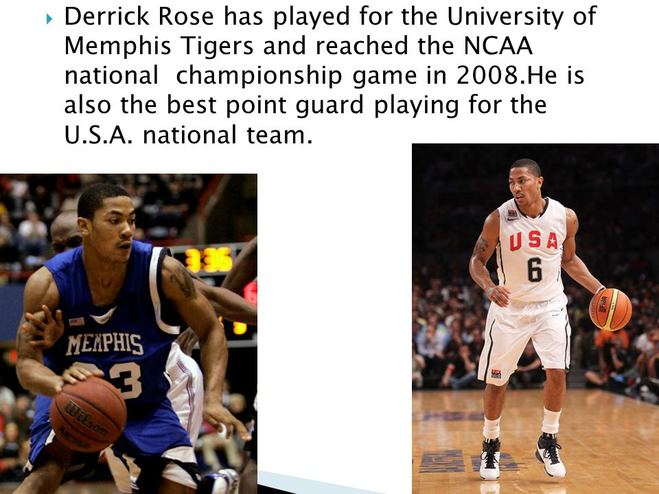 Derrick Martell Rose born October 4, 1988 is a professional basketball player for the Chicago Bulls of the NBA.Hes 23 years old and has already broken