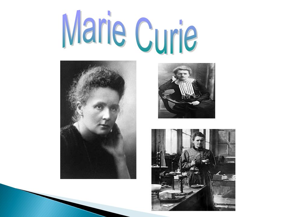 Marie Curie was born in 1867 in Poland. She started studying in the University of Paris in the age of 24and many years after she became the first fema