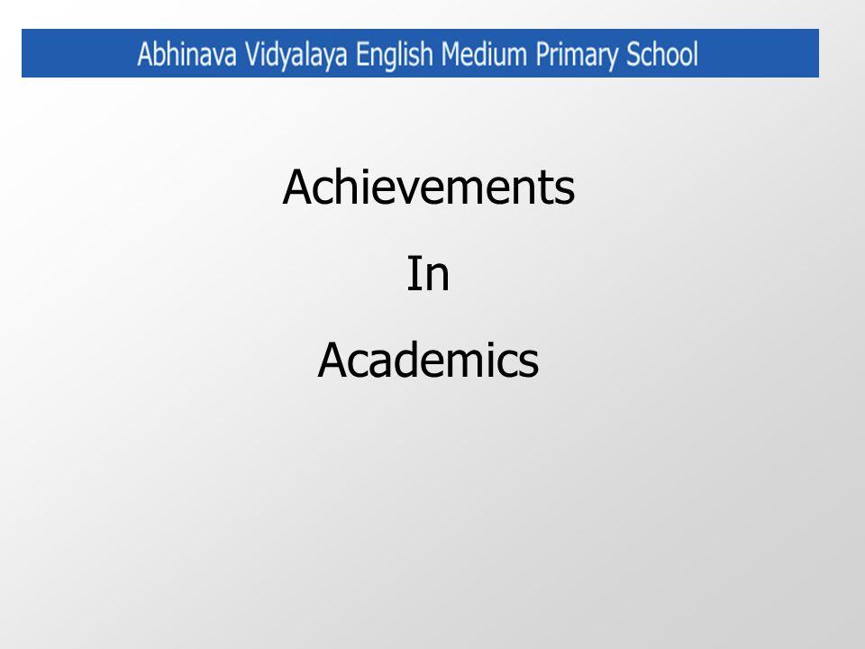 Achievements In Academics