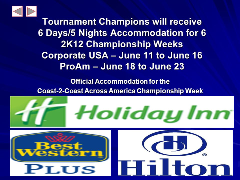 The Road to the Coast-2-Coast Championship Week Goes through a Local Tournament THE CITY QUALIFIER Near You Tournament THE CITY QUALIFIER Near You WIN!!!.