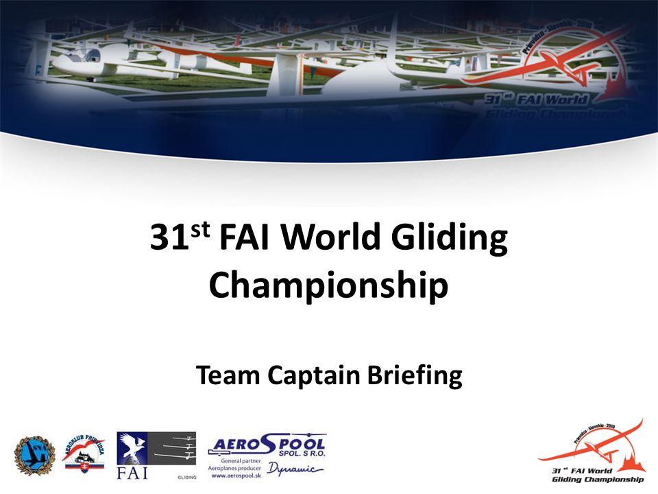 Team Captain Briefing