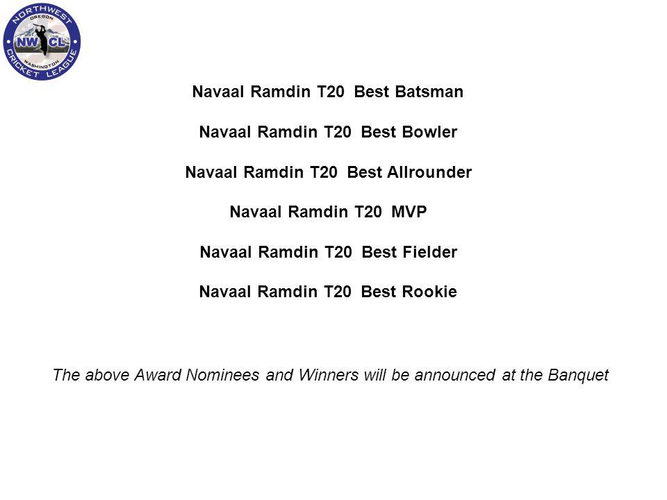 Navaal Ramdin T20 Best Batsman Navaal Ramdin T20 Best Bowler Navaal Ramdin T20 Best Allrounder Navaal Ramdin T20 MVP Navaal Ramdin T20 Best Fielder Na
