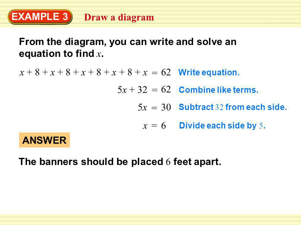 EXAMPLE 4 Standardized Test Practice SOLUTION STEP 1 Write a verbal model.