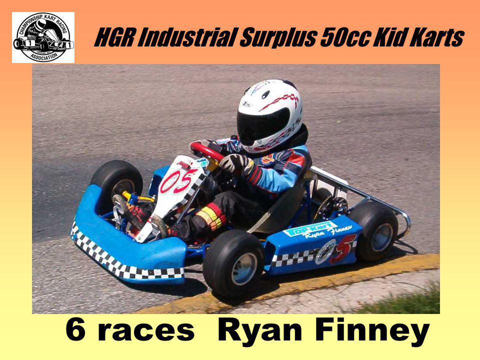 HGR Industrial Surplus 50cc Kid Karts 6 races Ryan Finney
