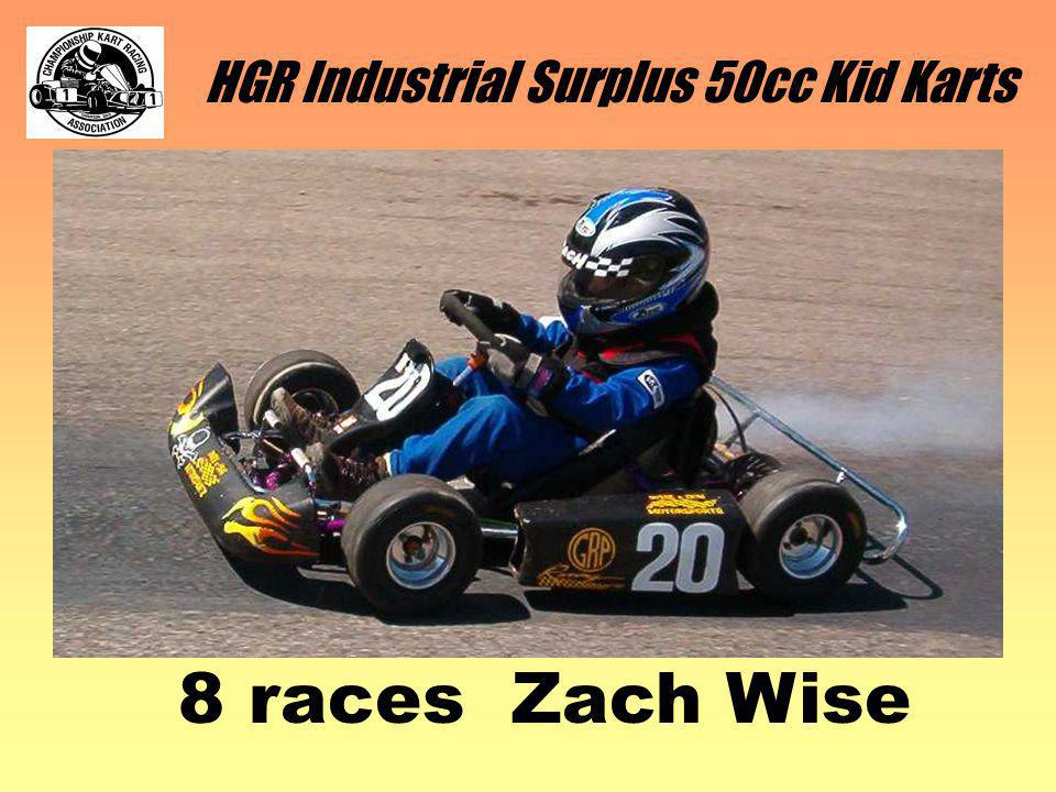 HGR Industrial Surplus 50cc Kid Karts 8 races Zach Wise