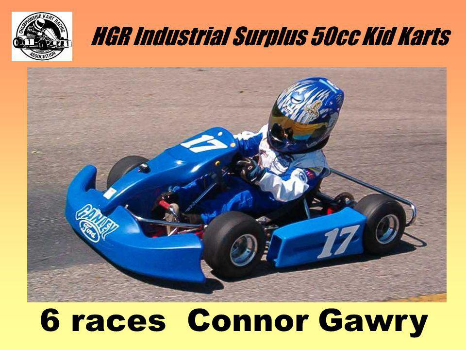 HGR Industrial Surplus 50cc Kid Karts 6 races Connor Gawry