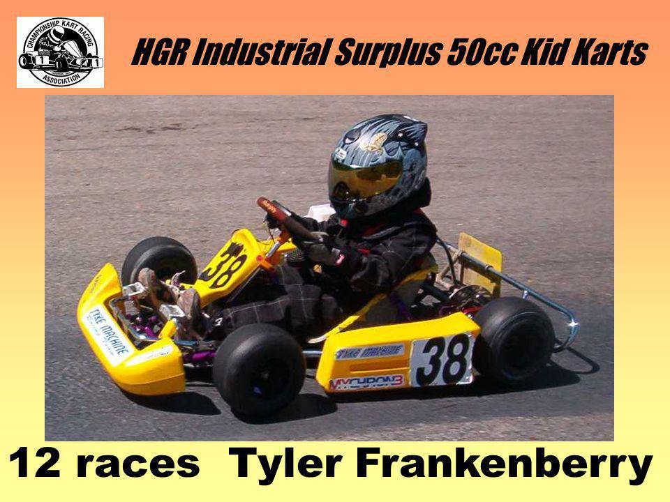 HGR Industrial Surplus 50cc Kid Karts 12 races Tyler Frankenberry