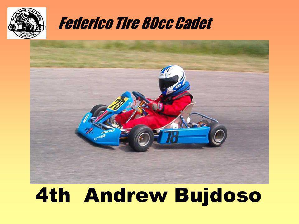 Federico Tire 80cc Cadet 4th Andrew Bujdoso