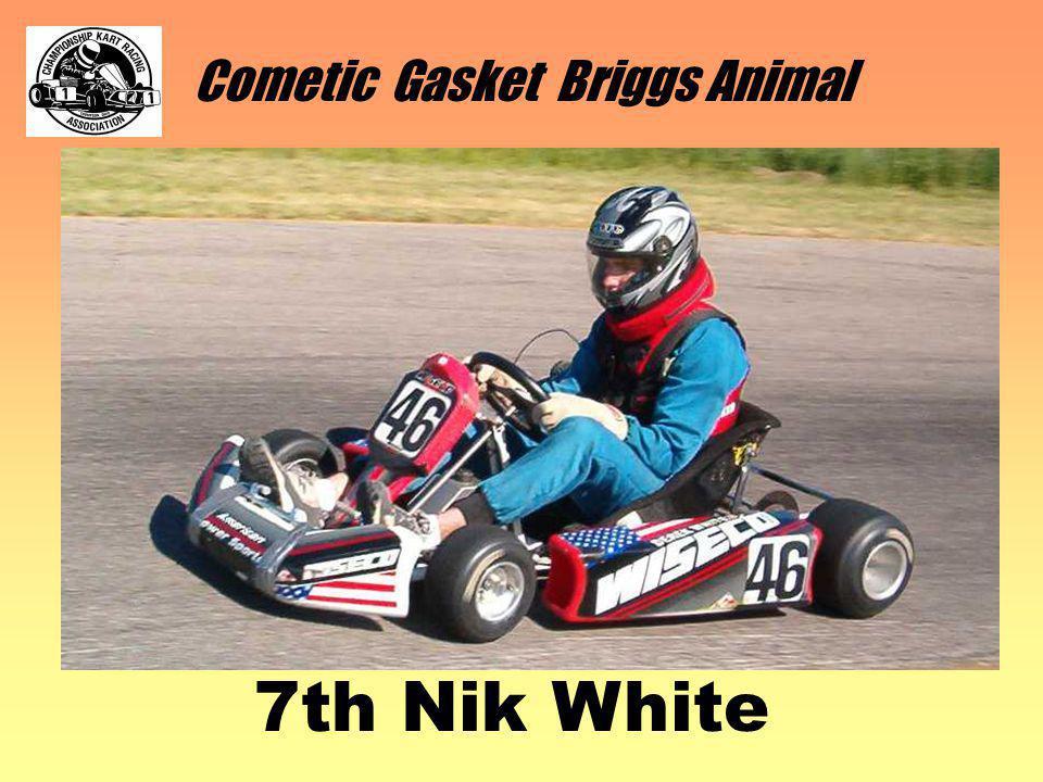 Cometic Gasket Briggs Animal 7th Nik White