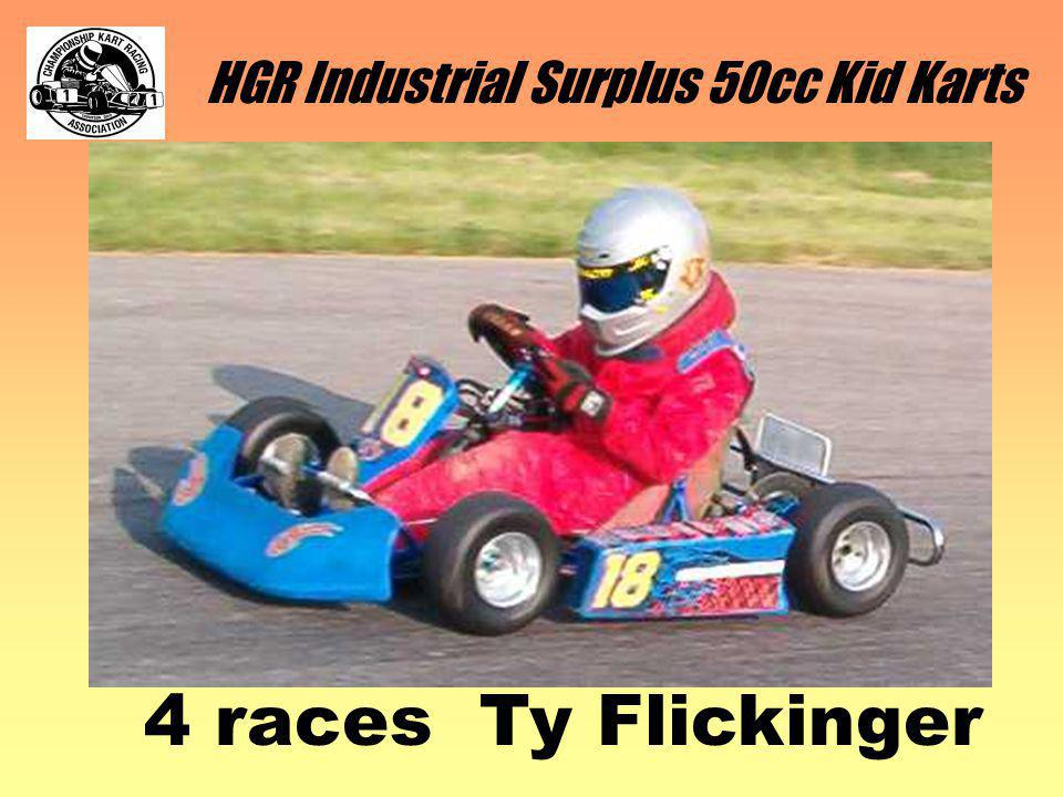 HGR Industrial Surplus 50cc Kid Karts 5 races Aaron Young