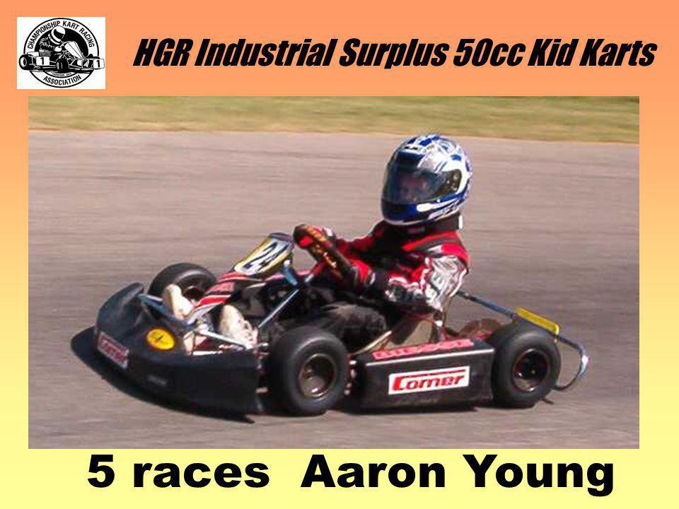 HGR Industrial Surplus 50cc Kid Karts 5 races Aaron Young