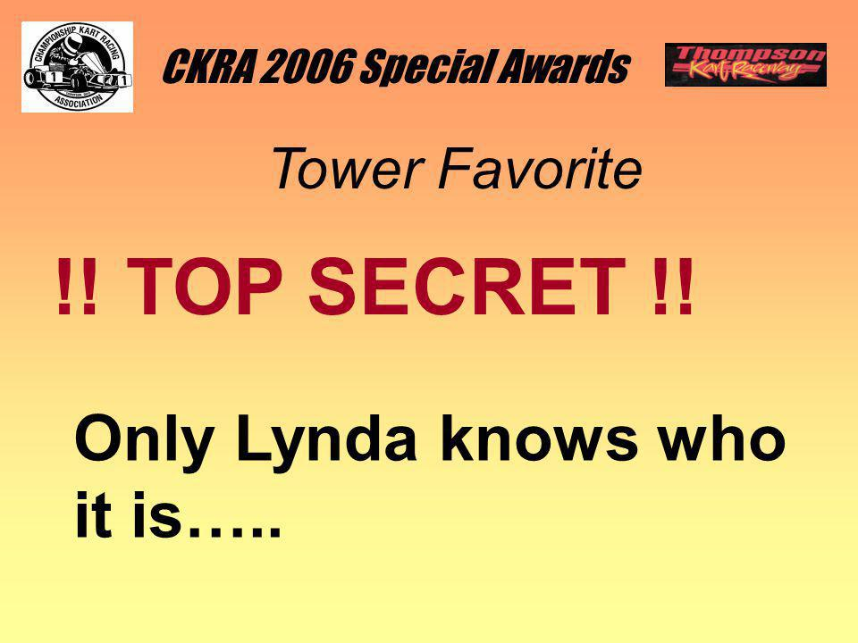 CKRA 2006 Special Awards Tower Favorite !! TOP SECRET !! Only Lynda knows who it is…..