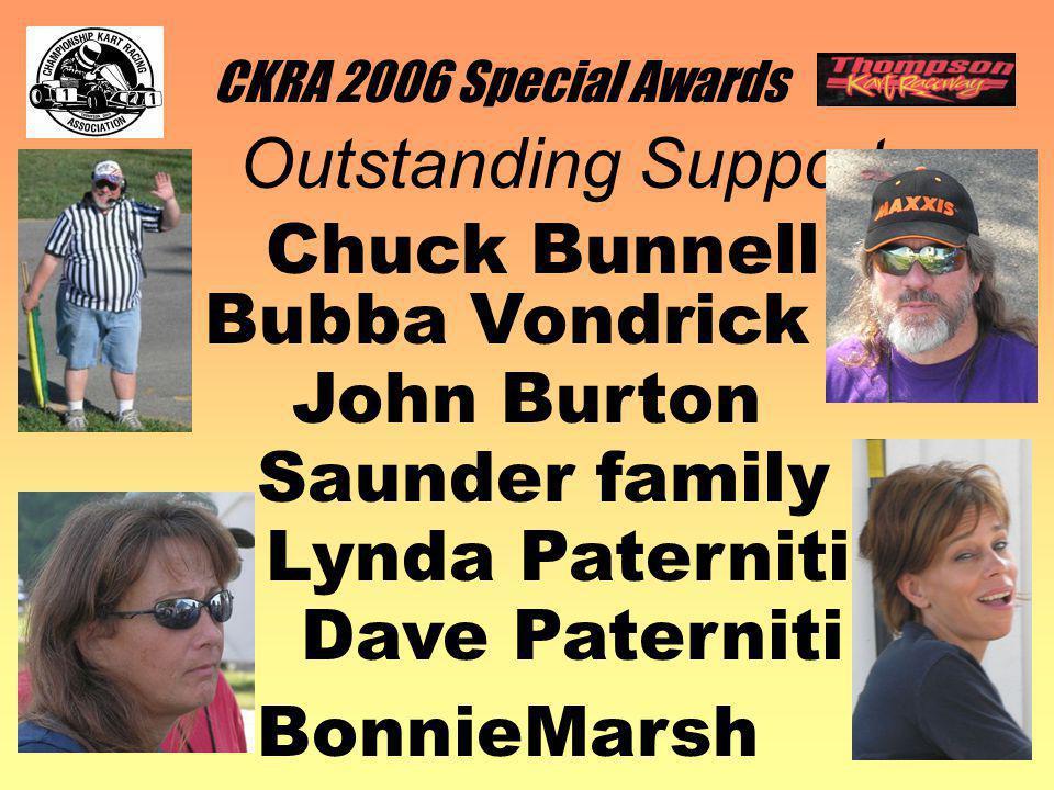 CKRA 2006 Special Awards Chuck Bunnell Outstanding Support Bubba Vondrick Lynda Paterniti BonnieMarsh John Burton Dave Paterniti Saunder family