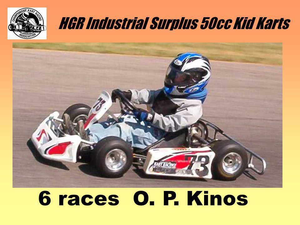 HGR Industrial Surplus 50cc Kid Karts 6 races O. P. Kinos