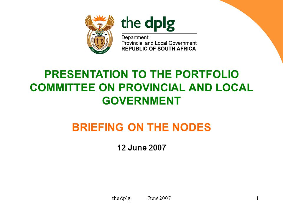 the dplg June 200732 Improve basic road, water and electricity infrastructure Actively facilitate and incentivise private sector investment in agricultural value added processing in cooperation with the District Municipality as well as Provincial departments and agencies Develop an effective branding and marketing strategy for the area in respect of both tourism and agricultural offerings Develop and implement a spatial development framework for the node to actively manage development and investment and more effectively retain potential benefits Rural Nodes: What needs to be done.