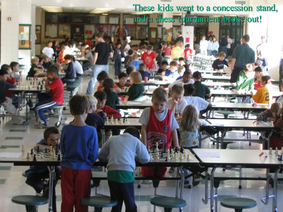 These kids went to a concession stand, and a chess tournament broke out!