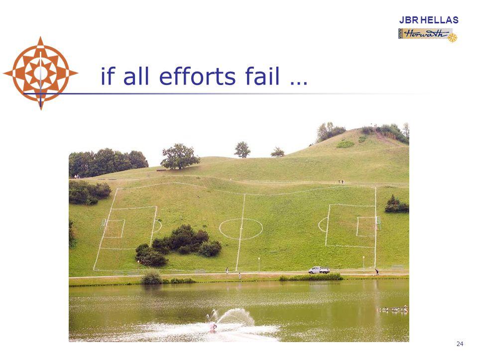 JBR HELLAS 24 if all efforts fail …