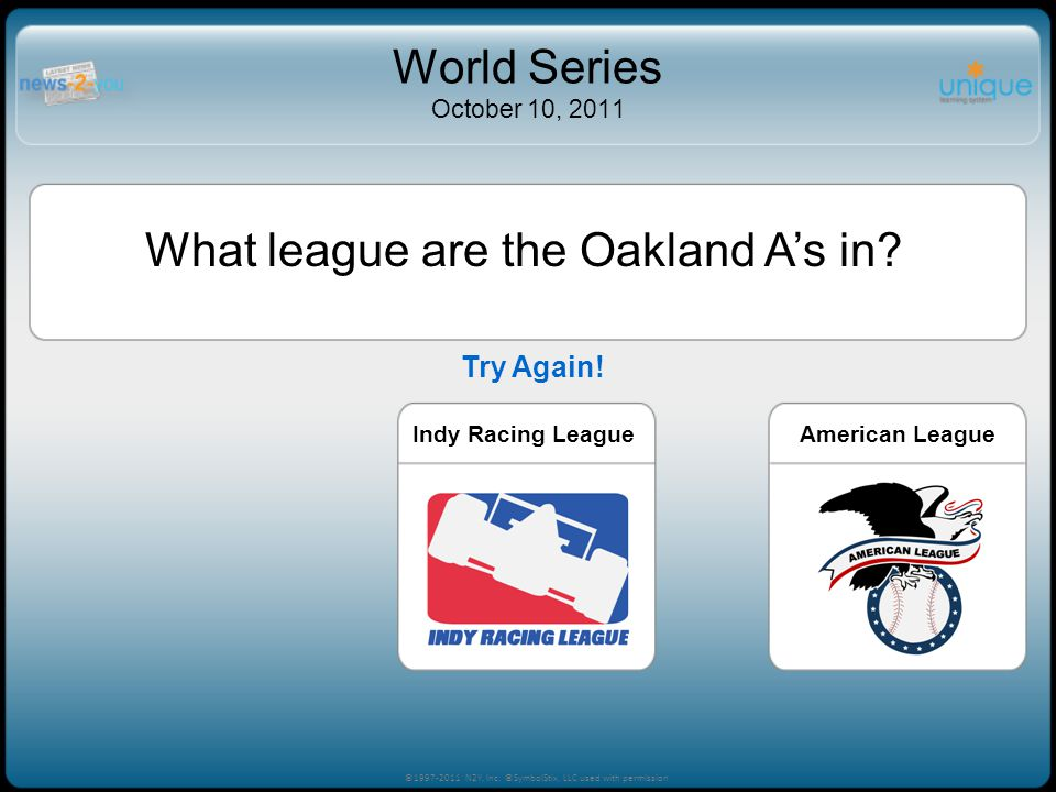 What league are the Oakland As in.