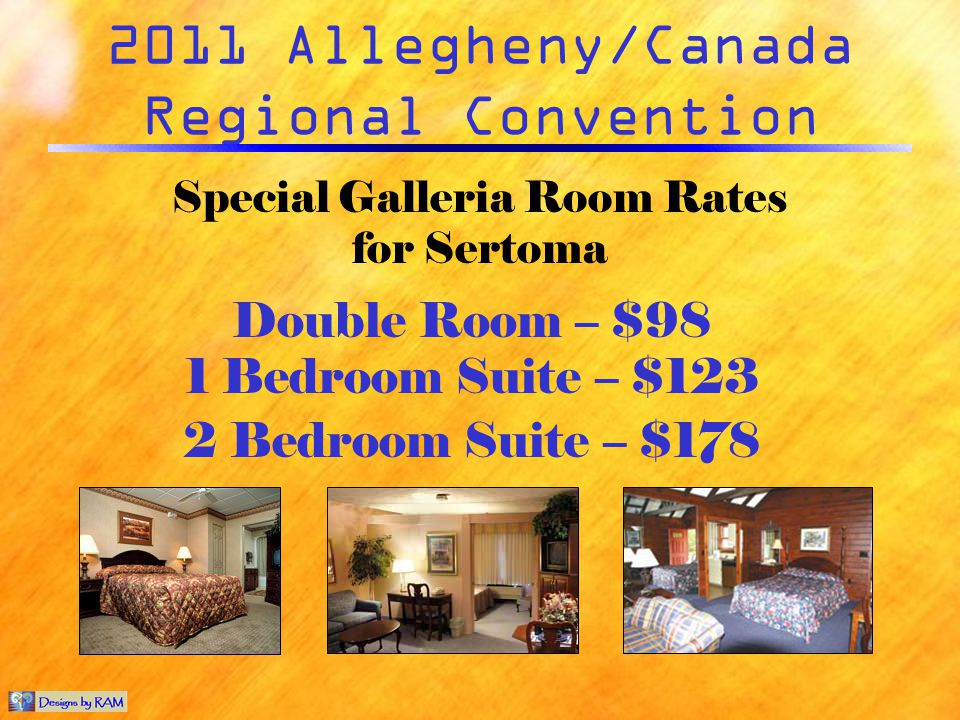 2011 Allegheny/Canada Regional Convention The Resort at Split Rock features … 4 Restaurants & 1 Lounge Live Entertainment