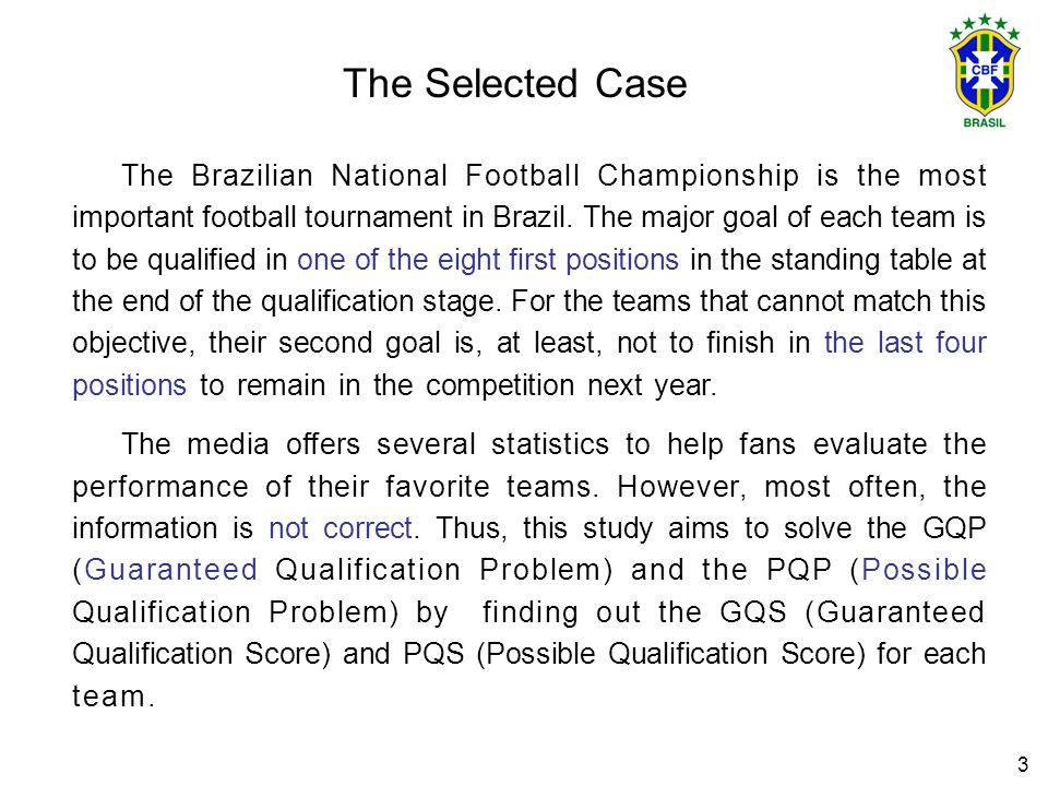 14 Results * 2002 Brazilian National Football Championship RankTeamCurrent pointsGames to playPQSGQS 1São Paulo493-- 2São Caetano443-- 3Corínthians423-- 4Juventude413-- 5Atlético MG403-- 6Santos393 40 7Grêmio383 40 8Fluminense3733839 9Coritiba3633740 10Goiás3633940 11Cruzeiro3633940 12Vitória3433738 13Ponte Preta3433738