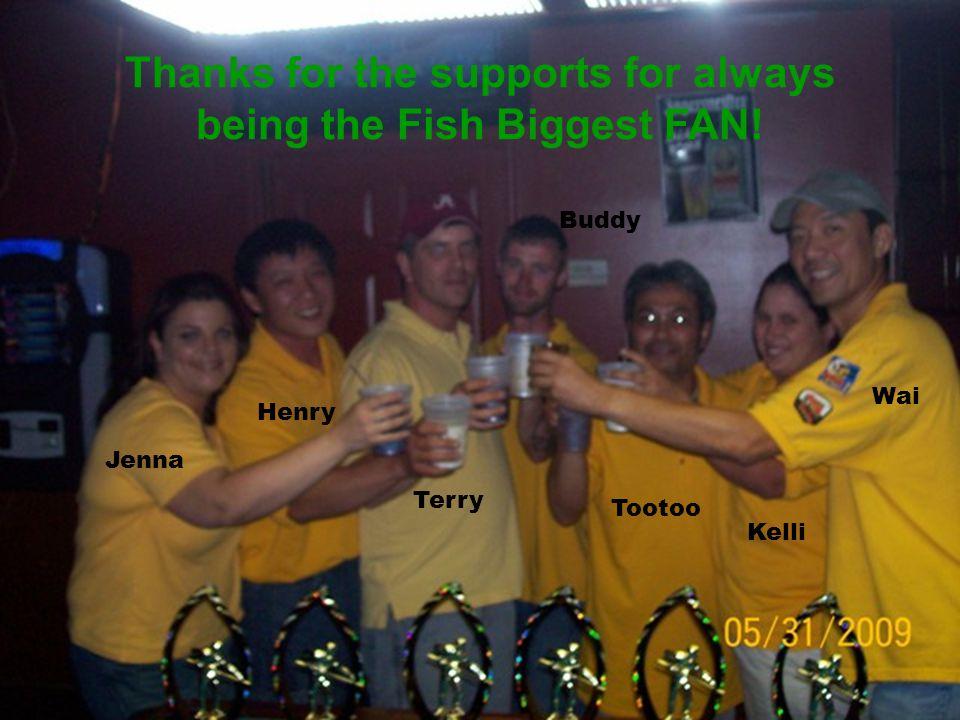 Monday Night Fish Captured 2009 8-Ball City Championship! Left to right: Kelli Johnson, Henry Ling, Jennifer Bozeman, Wai Pang, Buddy Hand, Terry Pope