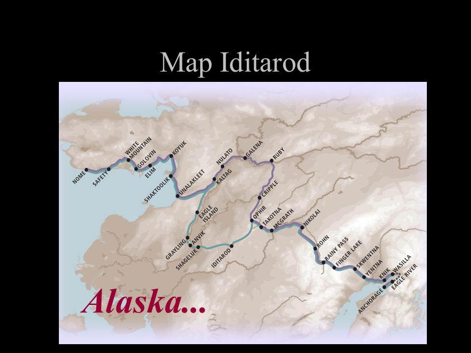 Map Iditarod Alaska...