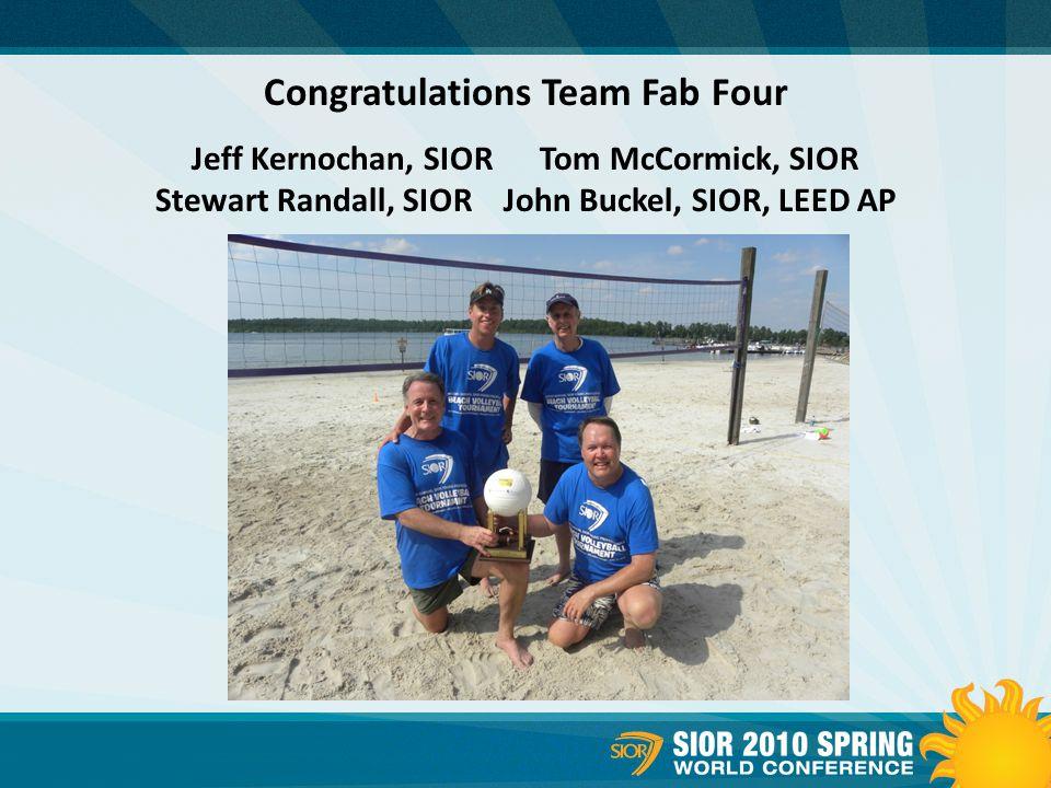 Congratulations Team Fab Four Jeff Kernochan, SIOR Tom McCormick, SIOR Stewart Randall, SIOR John Buckel, SIOR, LEED AP