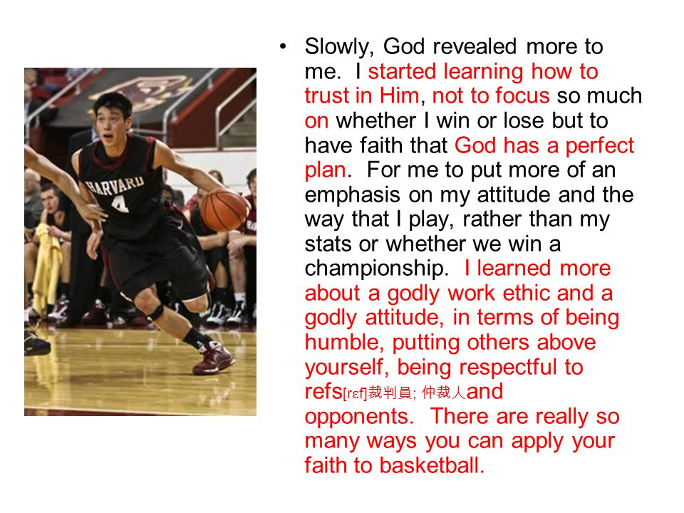 Slowly, God revealed more to me. I started learning how to trust in Him, not to focus so much on whether I win or lose but to have faith that God has