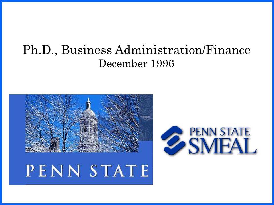 Visiting Economist, 1996 – 1998 U.S. Securities and Exchange Commission Washington, DC