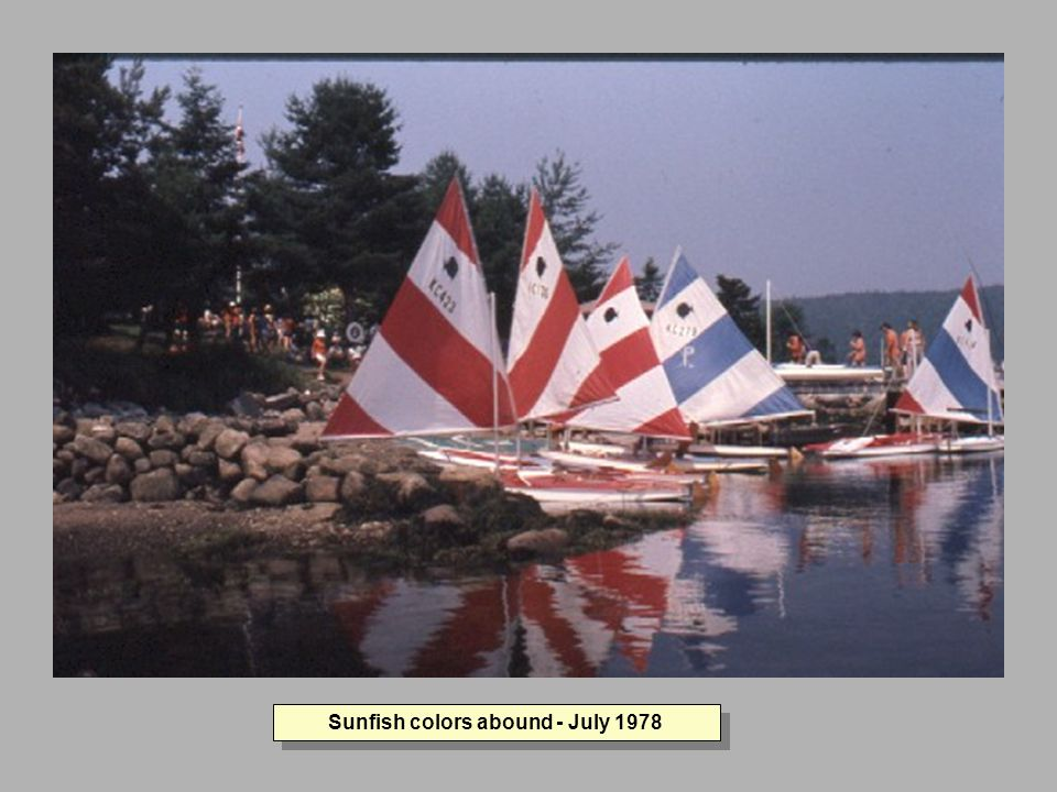 Sunfish colors abound - July 1978