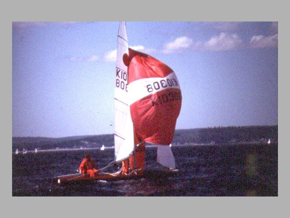 Rounding the mark at Rothman s Soling Championship, 1976