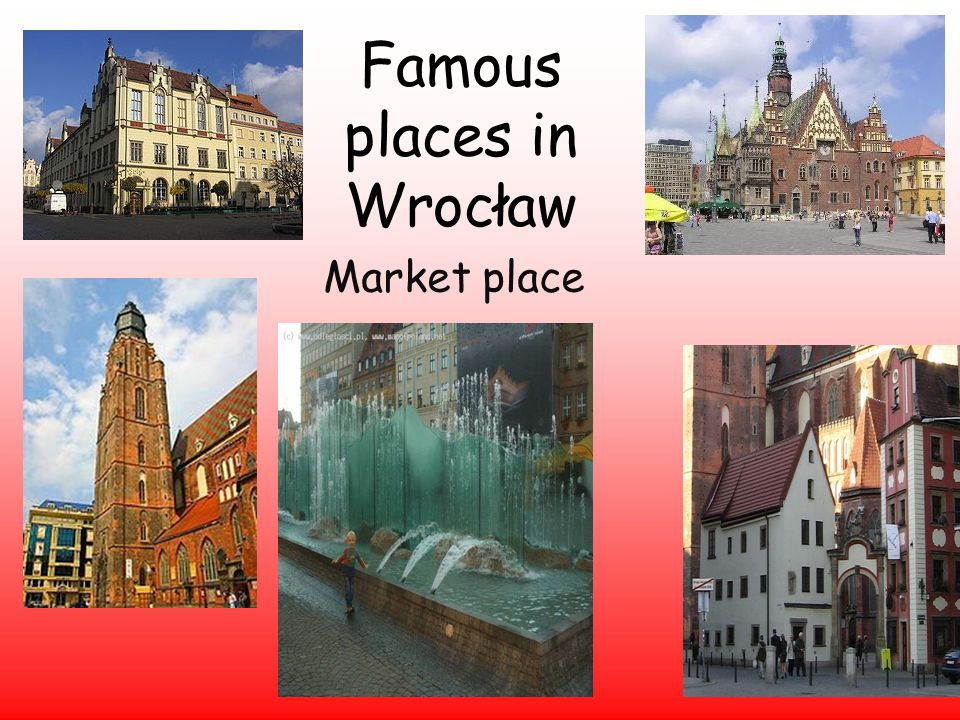 Famous places in Wrocław Market place