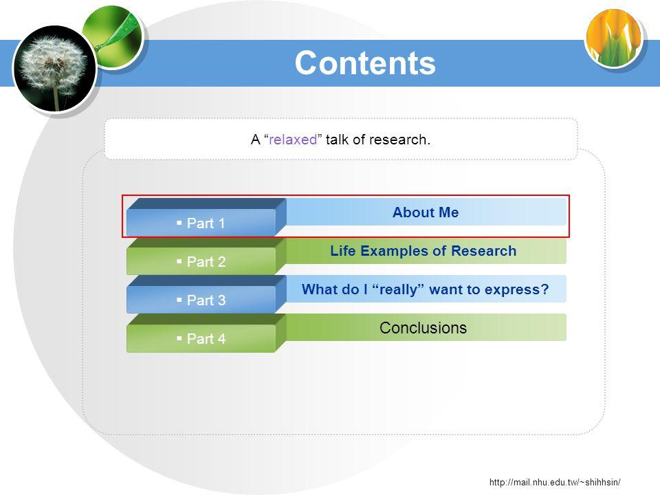 http://mail.nhu.edu.tw/~shihhsin/ Research Progress Improve.