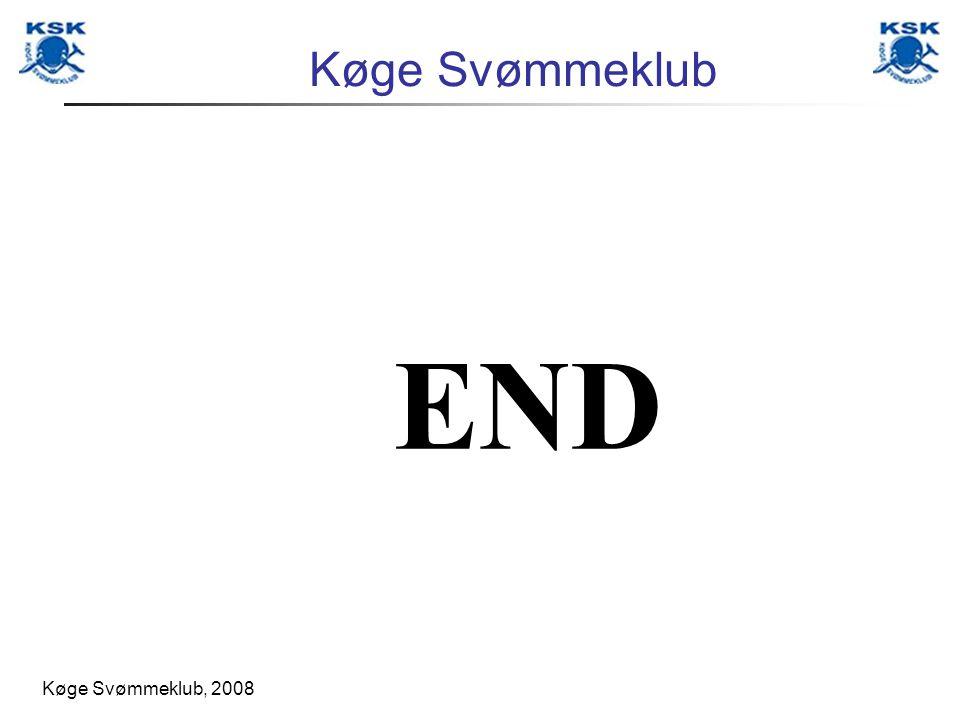 Køge Svømmeklub, 2008 Køge Svømmeklub END