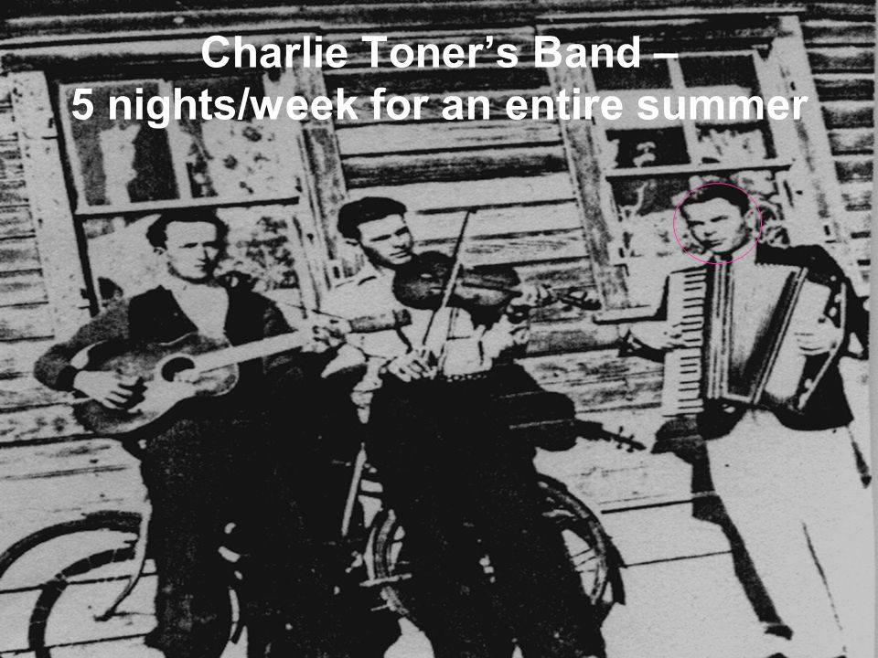 Charlie Toners Band – 5 nights/week for an entire summer